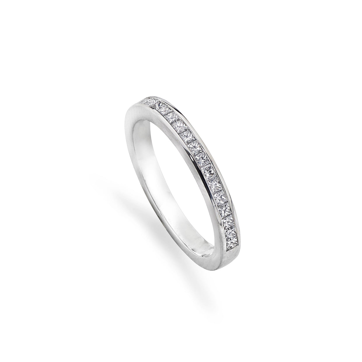 23 Stone Princess-Cut Diamond Eternity Ring in Platinum-Hamilton & Inches