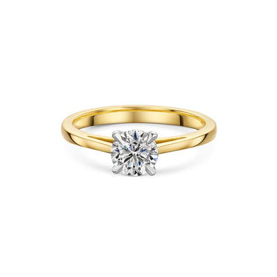 The Engagement Collection: Brilliant-Cut 0.90ct 4 Claw Diamond Solitaire Ring In 18ct Yellow Gold - Hamilton & Inches