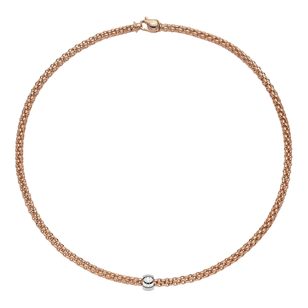 FOPE Solo Necklet in 18ct Rose Gold-Hamilton & Inches