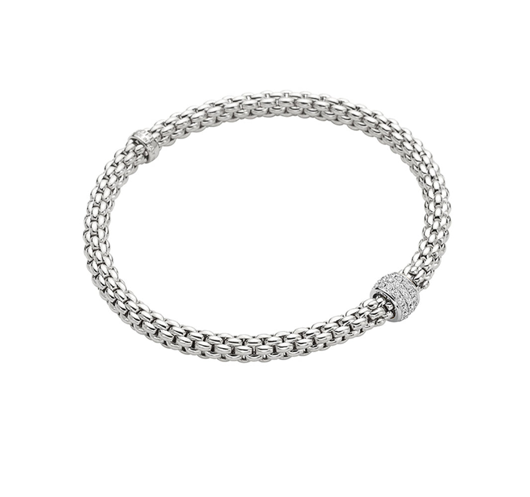 FOPE Solo Bracelet in 18ct White Gold-Hamilton & Inches