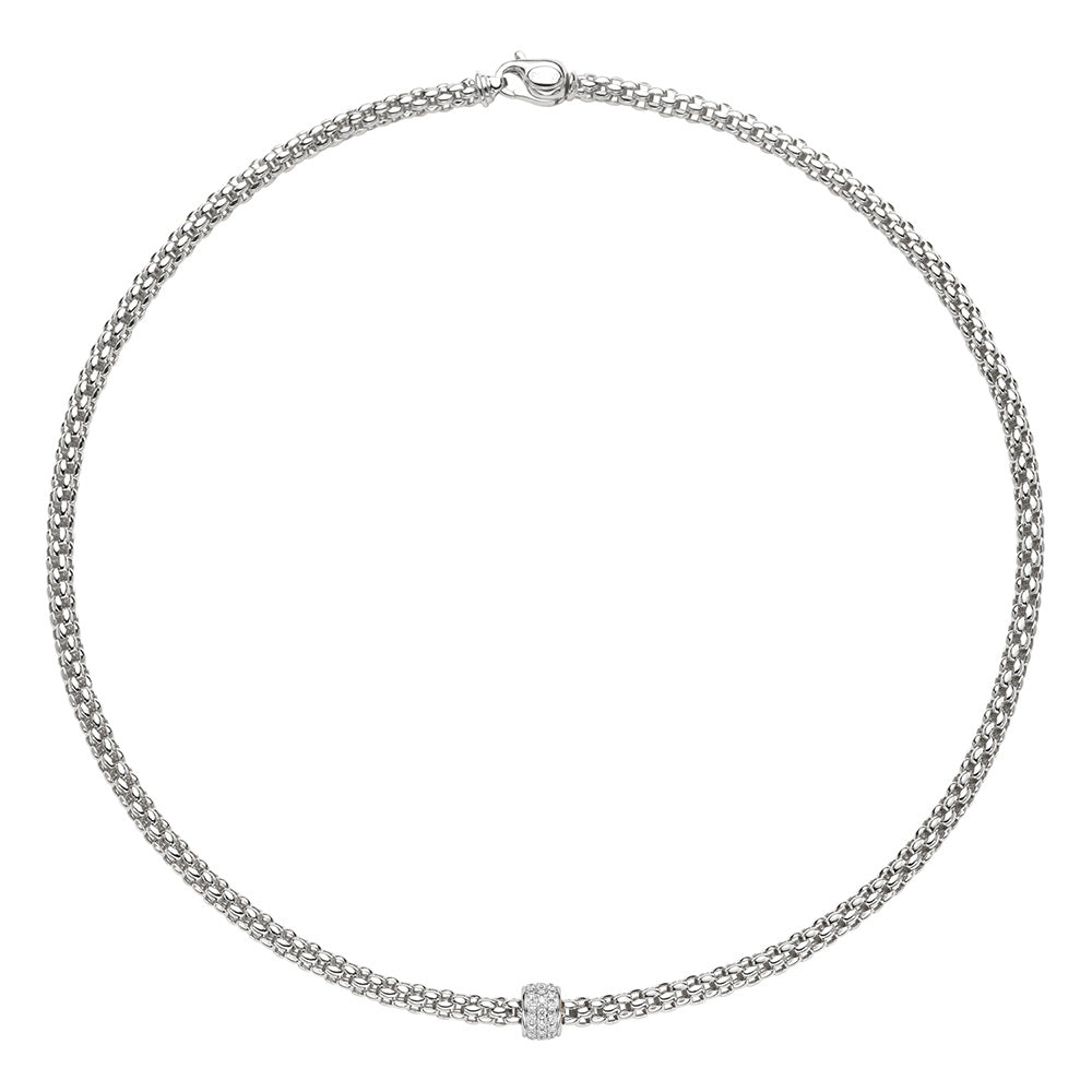 FOPE Solo Necklet in 18ct White Gold-Hamilton & Inches