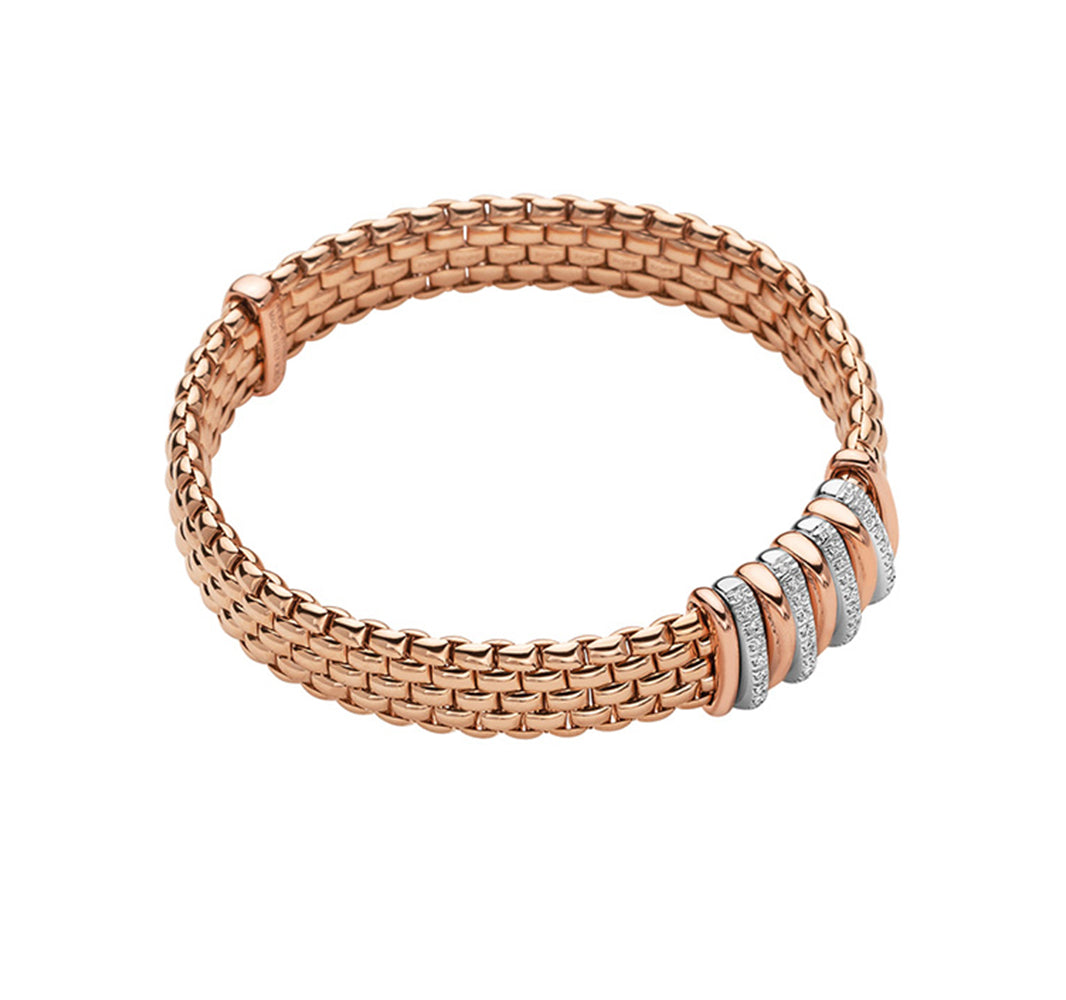FOPE Panorama Bracelet in 18ct Rose Gold-FOPE-Hamilton & Inches