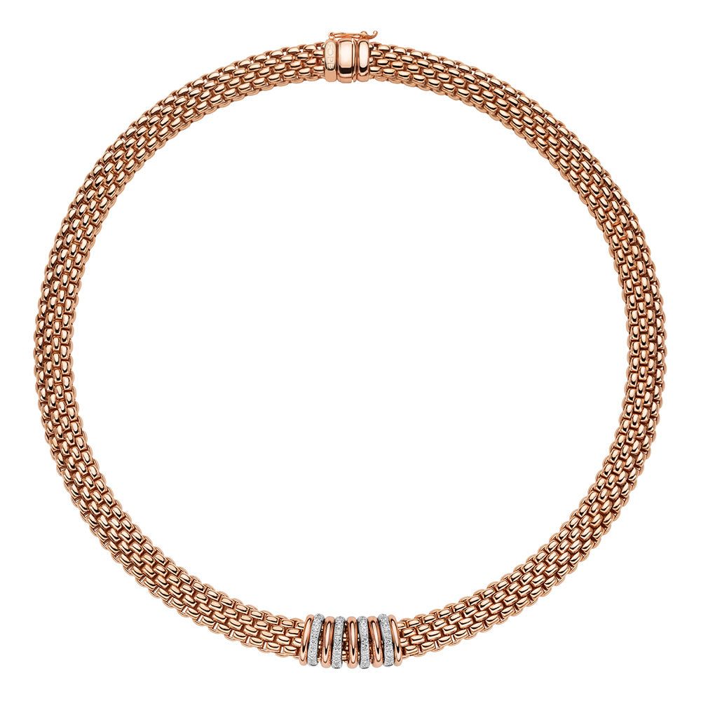 FOPE Panorama Necklet In 18ct Rose Gold-Hamilton & Inches