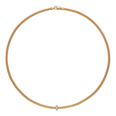 FOPE Prima Necklet in 18ct Yellow Gold-Hamilton & Inches