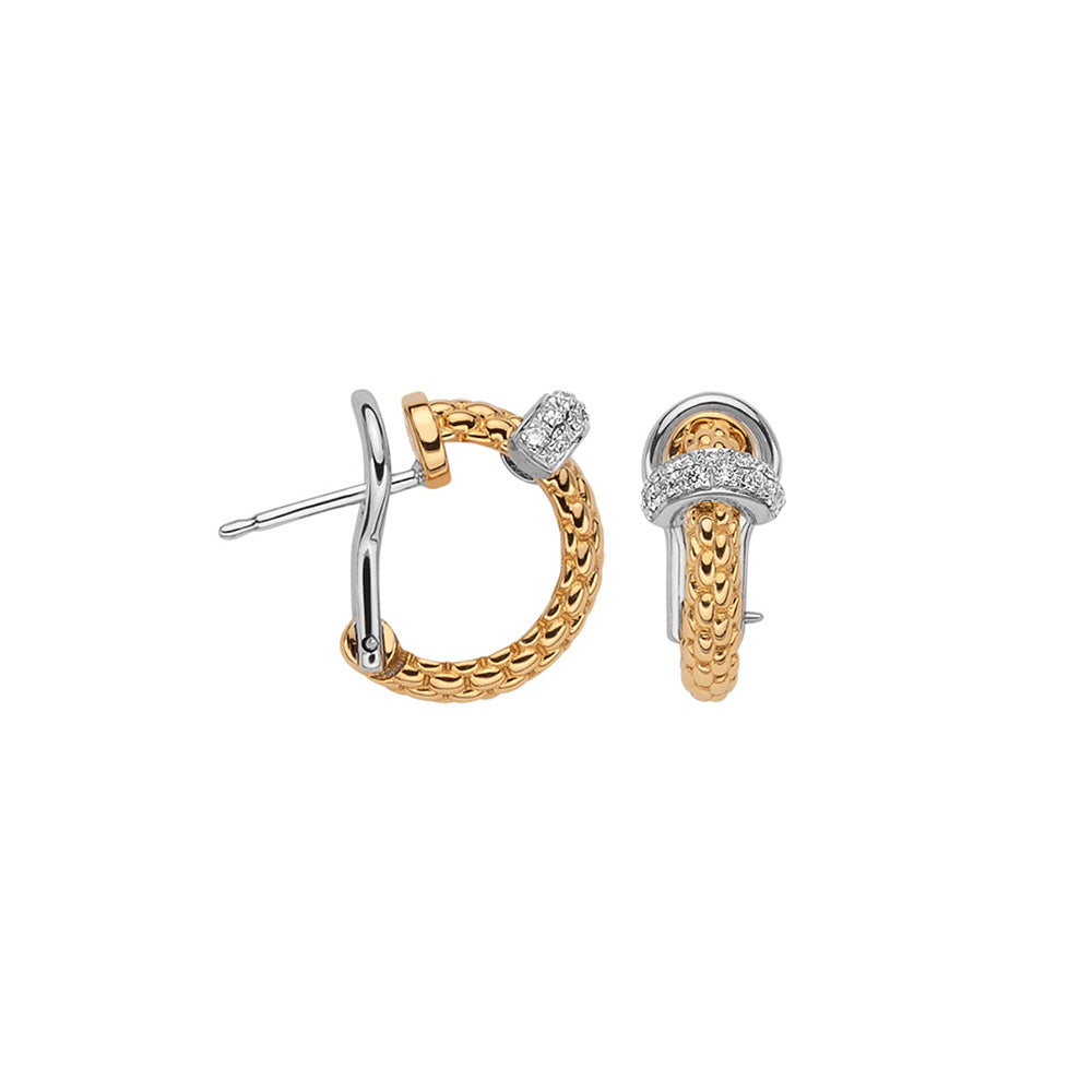 FOPE Prima Earrings in 18ct Yellow Gold-Hamilton & Inches