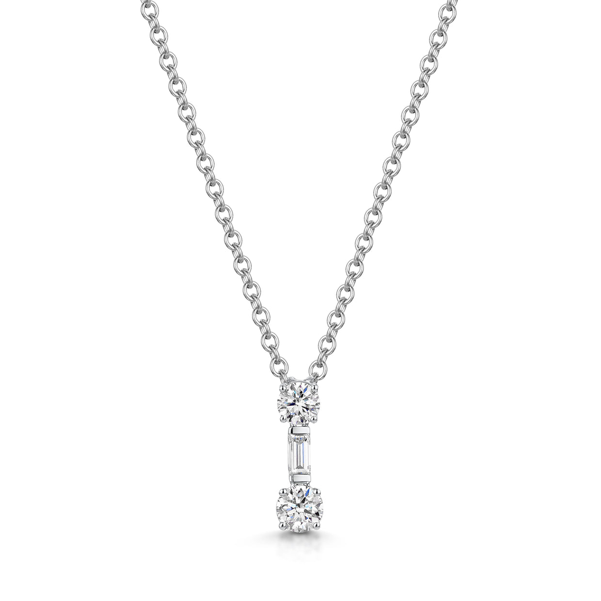 Brilliant-Cut Diamond Pendant in 18ct White Gold-Hamilton & Inches