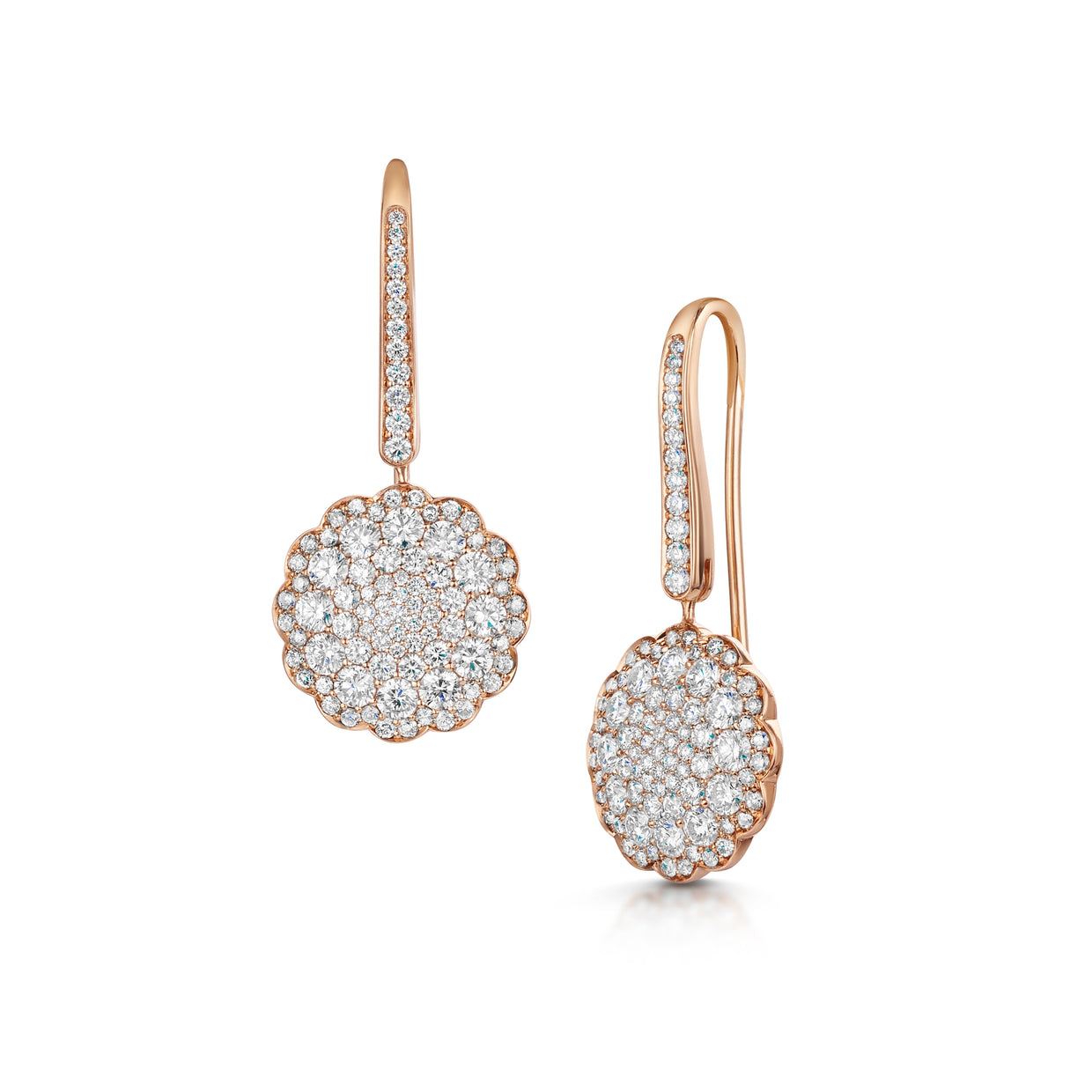 Bloom Earrings in 18ct Rose Gold-Hamilton & Inches