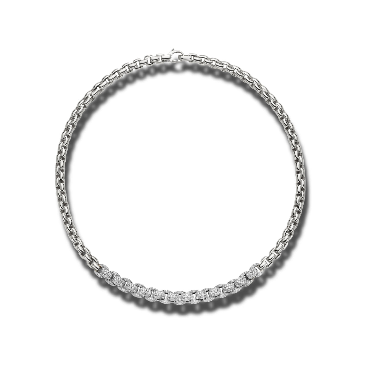 Fope Mialuce Eka Necklace in 18ct white gold-FOPE-Hamilton & Inches