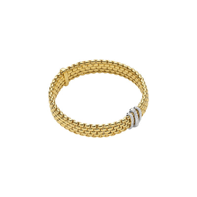 FOPE Panorama Bracelet in 18ct Yellow Gold