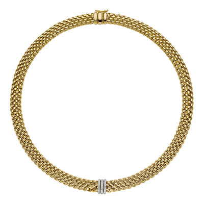 FOPE Panorama Flex'it Necklet in 18ct Yellow Gold