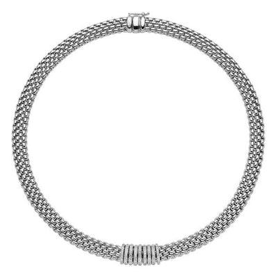 FOPE Panorama Diamond Necklace in 18ct White Gold-FOPE-Hamilton & Inches