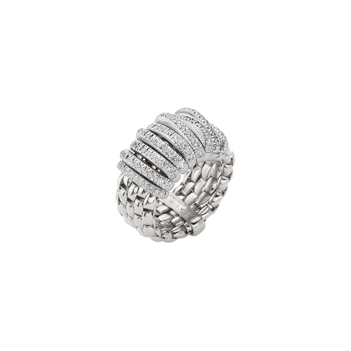 FOPE Panorama Flex'it Ring in 18ct White Gold