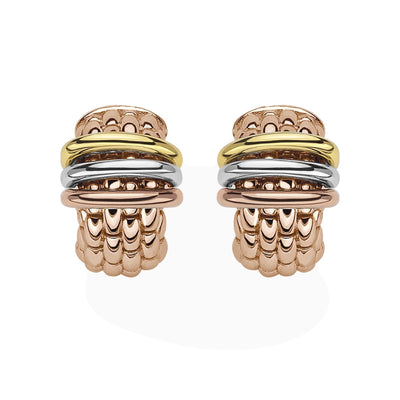 FOPE Panorama Flex'it Earrings in 18ct Rose Gold-FOPE-Hamilton & Inches