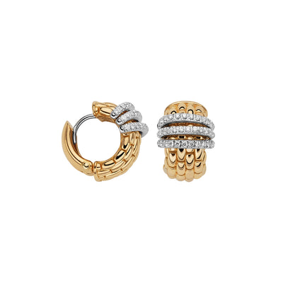 FOPE Panorama Flex'it Earrings in 18ct Yellow Gold