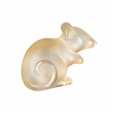 Lalique Mouse Sculpture in Gold Lustre - Hamilton & Inches