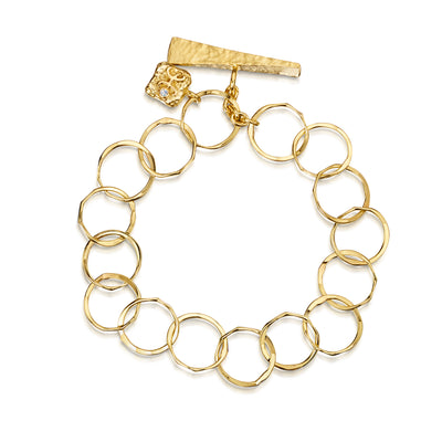 Round Chain Link Bracelet in 18ct Yellow Gold - Hamilton & Inches