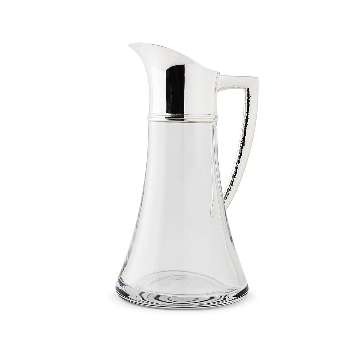 Sterling Silver Water Jug with Reed Mount Ham Handle-Hamilton & Inches