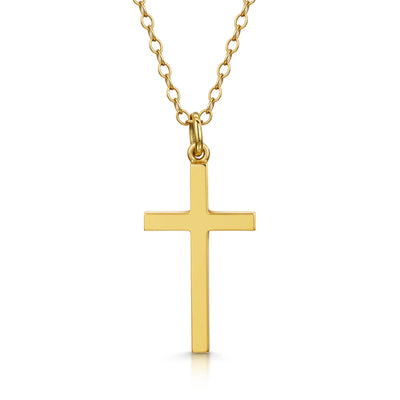 Cross Pendant in 18ct Yellow Gold-H & I-Hamilton & Inches