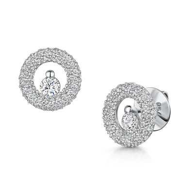 Fancy Diamond Stud Earrings in 18ct White Gold-Hamilton & Inches