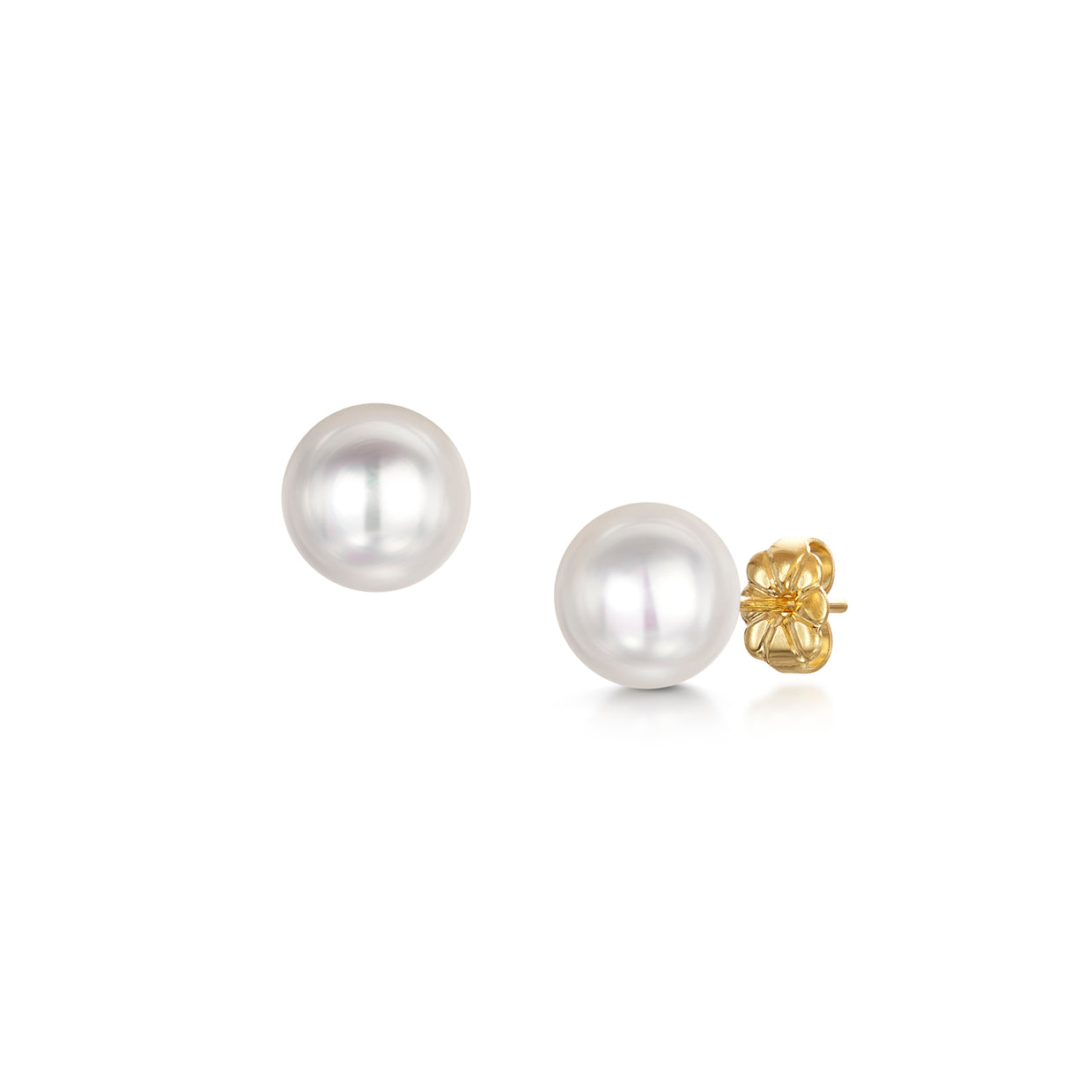 Single Cultured Pearl Stud Earrings - Hamilton & Inches