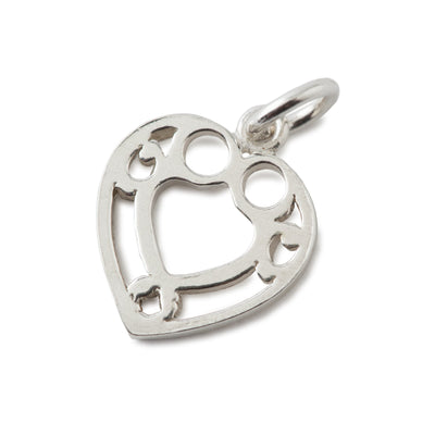 Heart Charm In Sterling Silver-Hamilton & Inches