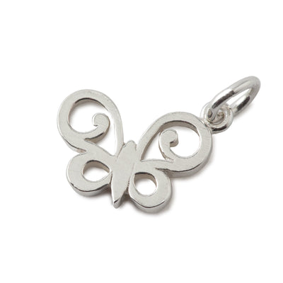 Butterfly Charm In Sterling Silver-Hamilton & Inches