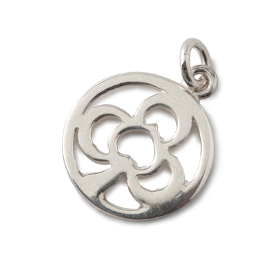 Clover Charm In Sterling Silver-Hamilton & Inches