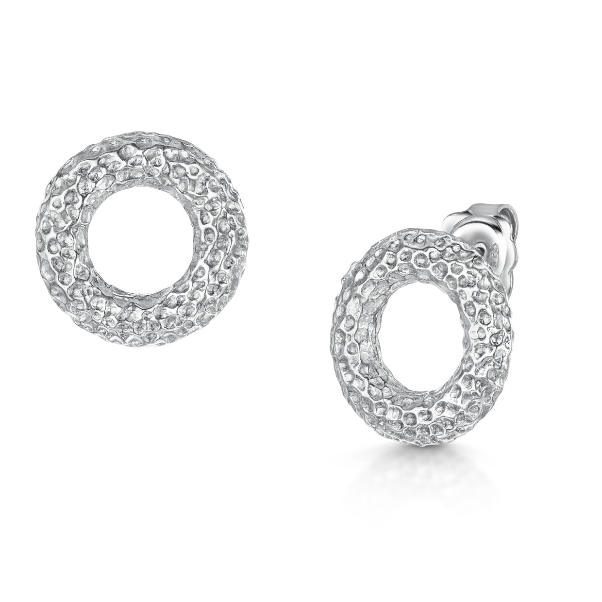 Hamilton & Inches Sterling Silver Donut Earrings - Hamilton & Inches