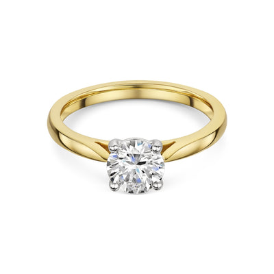 Single Stone Diamond Ring In Yellow Gold-Hamilton & Inches