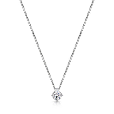 Diamond Pendant in 18ct White Gold-Hamilton & Inches