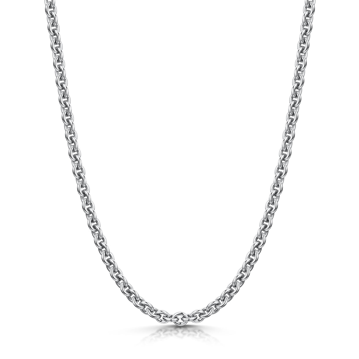 Heavy Round Necklet ion 18ct White Gold-Hamilton & Inches