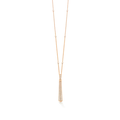 Signature Lariat in 18ct Rose Gold - Hamilton & Inches