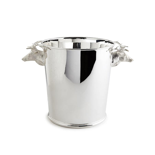 Sterling Silver Stag Handle Champagne Cooler - Hamilton & Inches