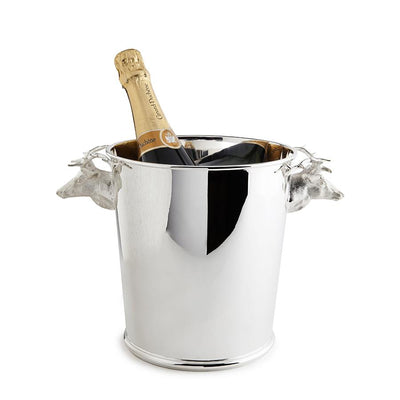 Sterling Silver Stag Handle Champagne Cooler-Hamilton & Inches