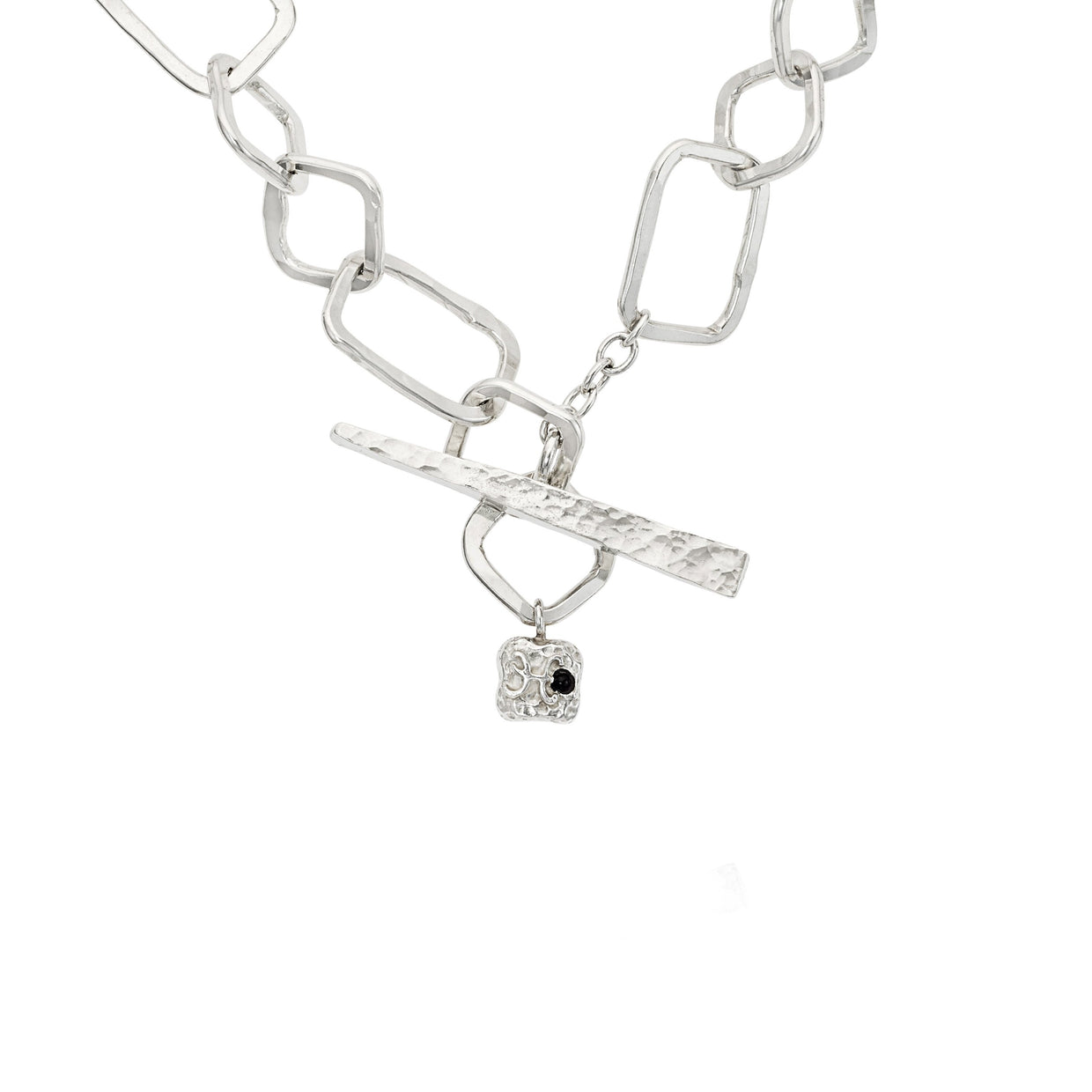 Hamilton & Inches Sterling Silver Heavy 20' Square Chain Link Necklace-Hamilton & Inches