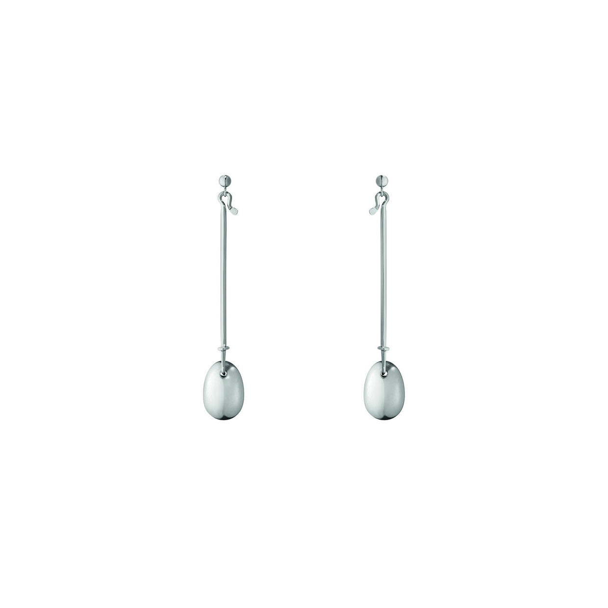 Georg Jensen Dew Drop Earrings in Sterling Silver-Hamilton & Inches