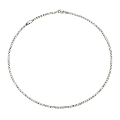 Fope Eka Tiny Necklace in 18ct White Gold (43cm) - Hamilton & Inches