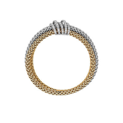 Fope Mialuce Bracelet in Yellow and White Gold