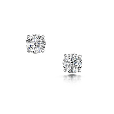 Diamond Stud Earrings in 18ct White Gold - Hamilton & Inches