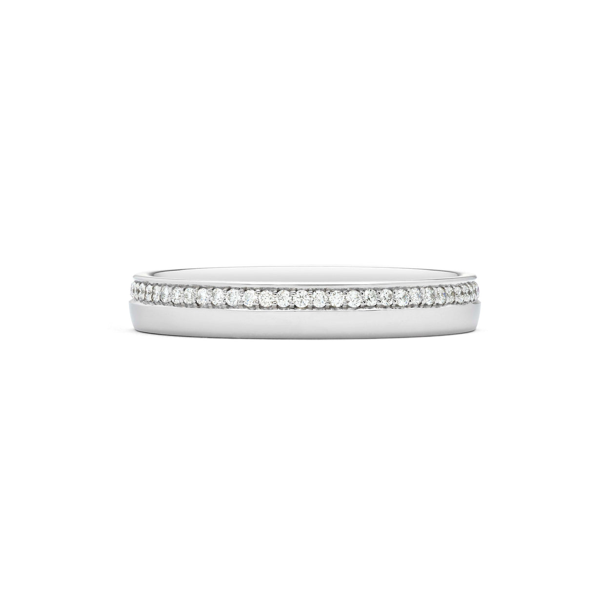 Round Brilliant-Cut 0.25ct Diamond Wedding Ring in Platinum-Hamilton & Inches