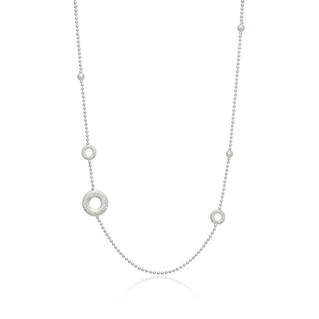 Hamilton & Inches Sterling Silver Donut Cosmos Lariat Necklace - Hamilton & Inches