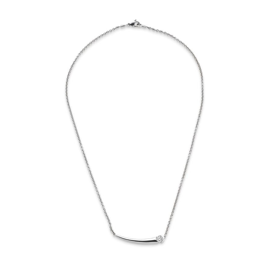 Tapered Bar Pendant in White Gold - Hamilton & Inches