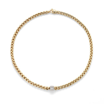 FOPE Flex'it Olly Necklet in 18ct Yellow Gold - Hamilton & Inches