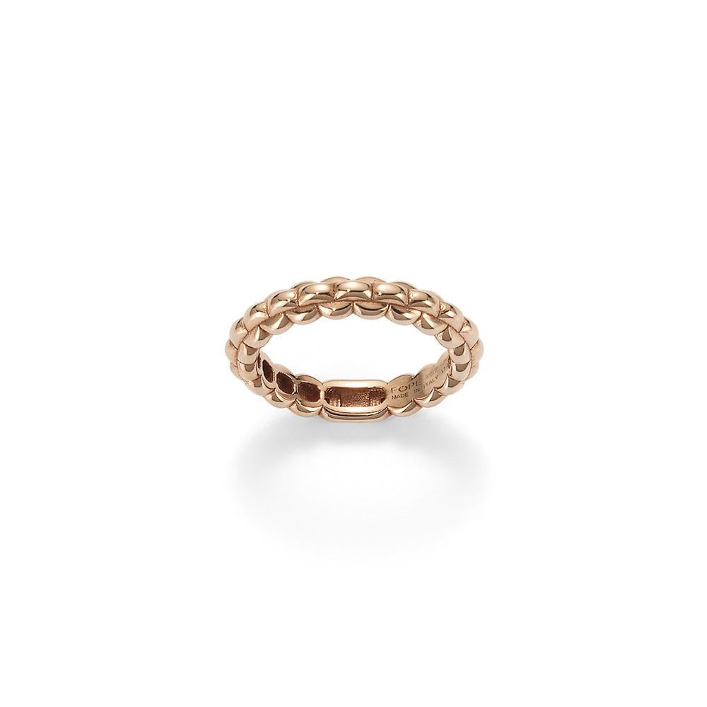 FOPE Eka Tiny Ring in 18ct Rose Gold - Hamilton & Inches