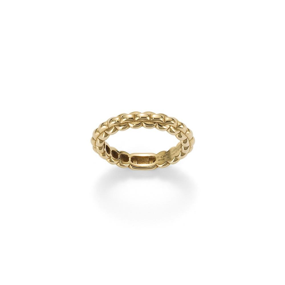 FOPE Eka Tiny Ring in 18ct Yellow Gold-Hamilton & Inches