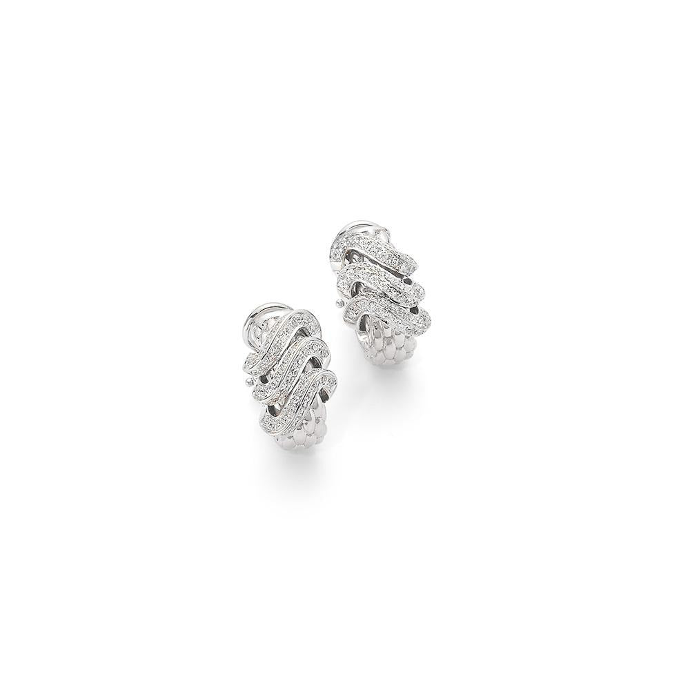 FOPE Flex'it Diamond Vendome Earrings in White Gold-Hamilton & Inches