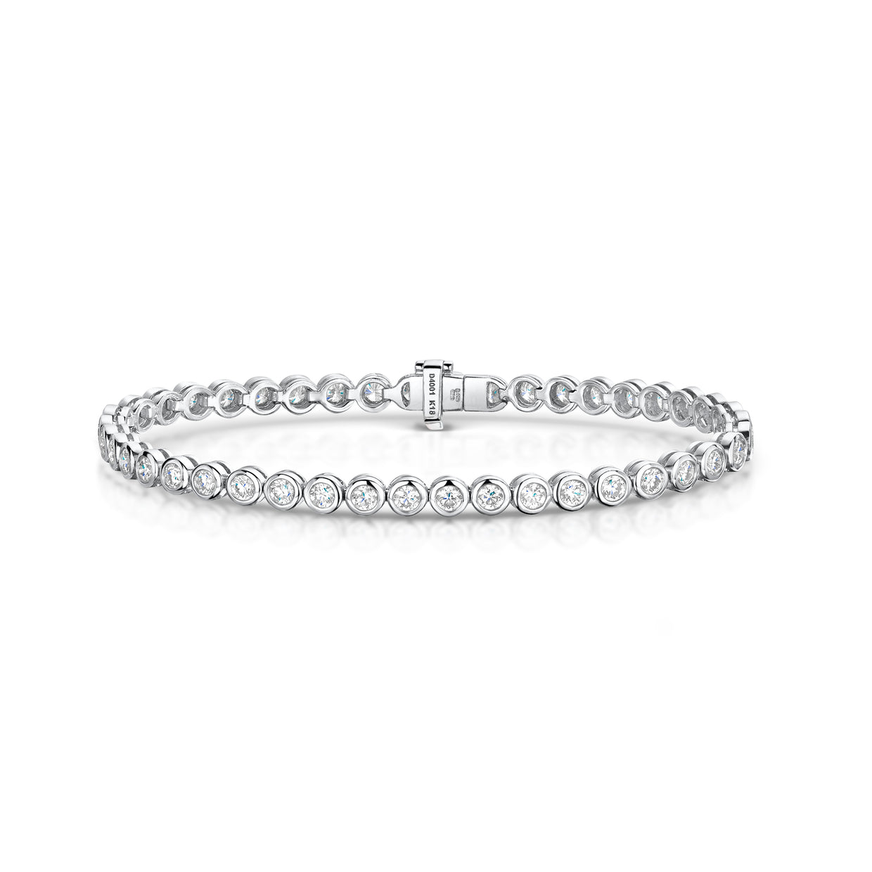 4 ct Diamond Line Bracelet in 18ct White Gold - Hamilton & Inches