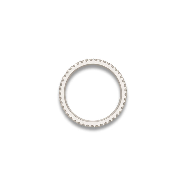 H&I Duke Hammered Ring in white gold-H & I-Hamilton & Inches