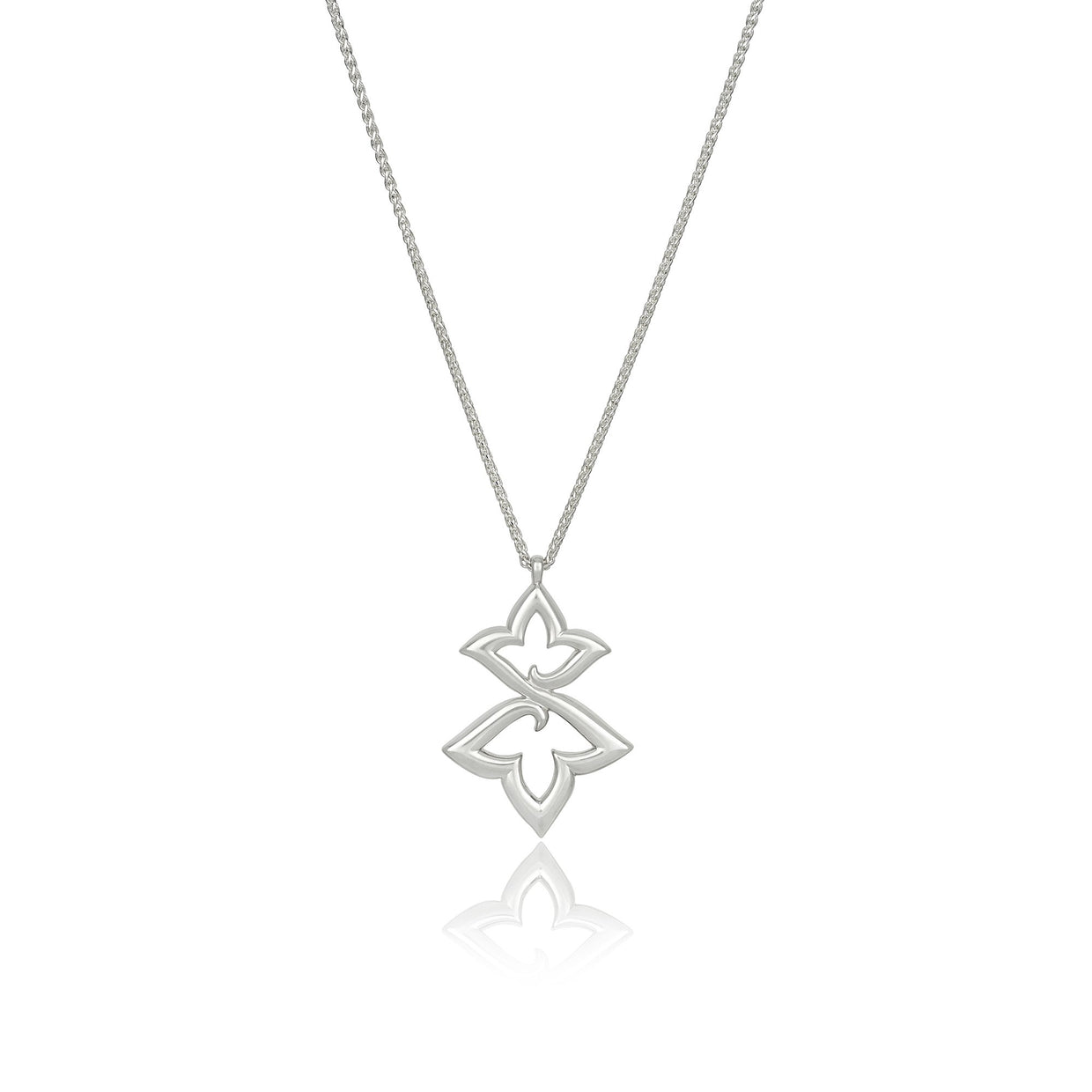 Lily II Double Pendant in Sterling Silver - Hamilton & Inches
