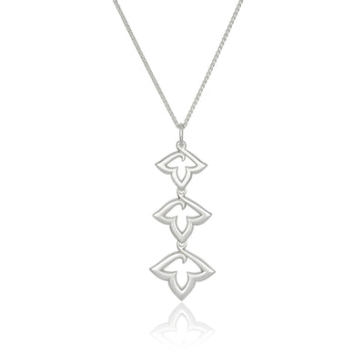 Lily II Triple Pendant in Sterling Silver-Hamilton & Inches
